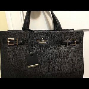 kate spade black leather bag - classic! EUC!